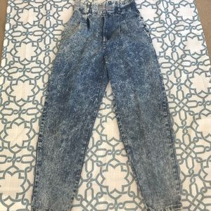 80s 90s Light Wash High Waisted Mom Skinny Jeans
